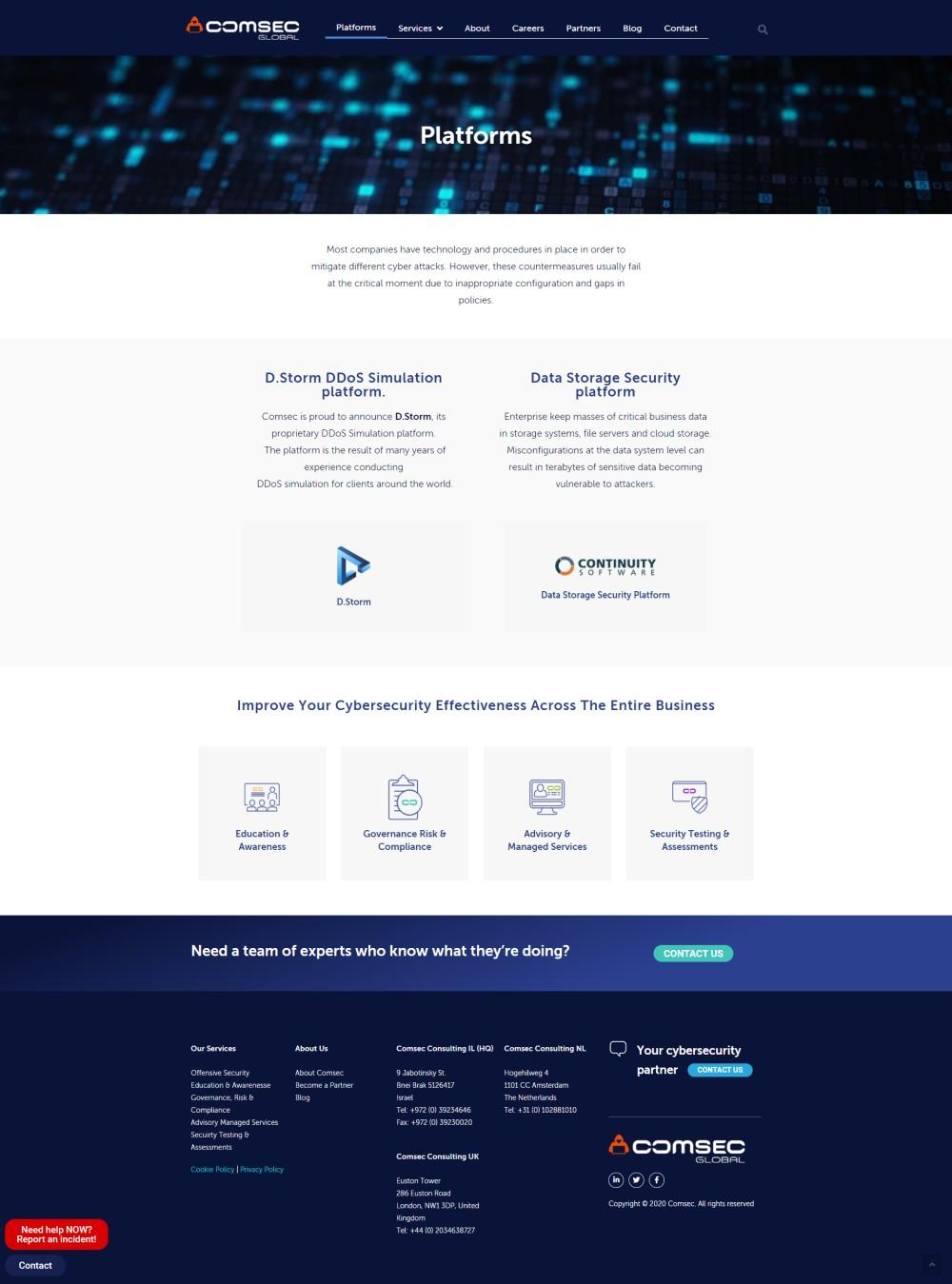 platform fullpage comsec